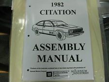 1982 82 CHEVY CITATION (ALL MODELS) ASSEMBLY MANUAL
