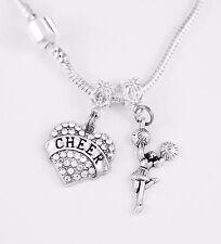 Cheer Necklace Cheerleader Team Cheer jewelry gift cheerleader chain present