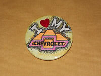 VINTAGE OLD CAR 1970S  I LOVE MY CHEVROLET BUTTON NOS NEW OLD STOCK