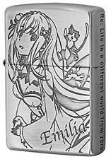 ZIPPO Lighter Re: Zero Starting Life In Another World Emilia Silver Brass Anime