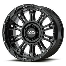 17 Inch Wheel Rims XD Series Hoss 2 Satsin Black Jeep JK 5x127 5x5 Lug Set of 4