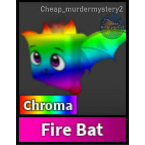 Murder Mystery 2 MM2 Chroma Fire Bat Roblox *FAST DELIVERY* Read Description