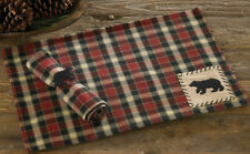Concord Black Bear Placemat Park Designs Collection Rustic Lodge Decor Set of 4