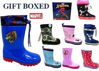 CHILDRENS WELLIES BOYS GIRLS WELLINGTONS KIDS TODDLER WELLIES WINTER SNOW BOOTS