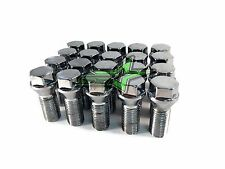 20PC LOW PROFILE LUG BOLTS 12x1.5 | 17MM HEX | CHROME CONICAL WHEEL STUD | 25MM