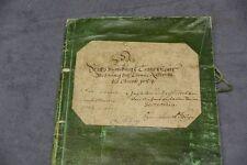 ANTIKER BUCHEINBAND PAPPBAND BUCHDECKEL KOPERT BLOCK MAPPE VON 1684
