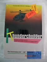 "THUNDERCHOPPER,1986 PC Game Software for Commodore 64/128,Handbook,5.25"" Floppy"