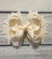 Solid Color Red/Yellow/Coral/Blue/White/Pink/Navy/Black Stacked Hair Bow