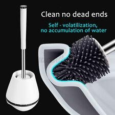 Silicone Soft Bristle Toilet Brush Base Cleaning Brush Toilet WC Bathroom Set