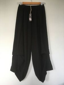 BARBARA SPEER NEW With Tags Black 97% Organic Cotton BODRUM TROUSERS Size 2