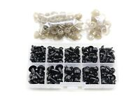 142Pcs 6to12 mm Plastic Safety Eyes Black  Eyes  Wahers for Teddy  Doll DIY BS