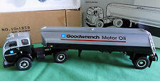 1953 WHITE 3000 TRACTOR WITH GOODWRENCH MOTOR OIL TANKER FIRST GEAR 1ST RARE