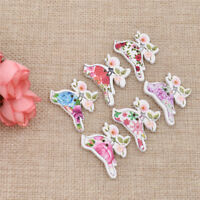 50pcs Wood Decorative Buttons Birds Flower Pattern DIY Scrapbooking Craft Decor