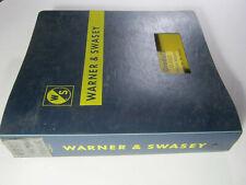 Warner And Swasey Gradall G 880 Operators Service Parts Manual