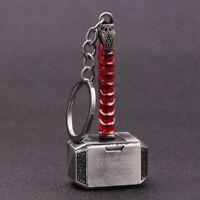 Marvel Avengers Thor Hammer Mjolnir Keychain Pewter Metal Keyring Cosplay