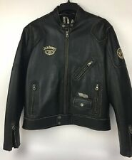Vintage Jack Daniels Leather Motorcycle Jacket Mens Size XL Riding RARE - VENTED