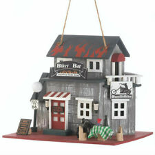 Route 66 Motorcycle Biker Bar Birdhouse Gift for Harley Davidson Enthusiasts