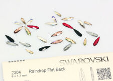 Genuine SWAROVSKI 2304 Raindrop Flat Backs No Hotfix Crystals * Many Colors