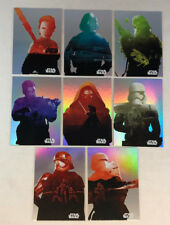 JOURNEY TO STAR WARS: THE FORCE AWAKENS Complete FOIL Chase Card Set of 8