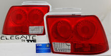 TYC RED LENS TAIL BRAKE LAMPS LIGHTS PAIR LEFT + RIGHT FOR 99-04 FORD MUSTANG