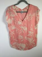Witchery womens pink floral blouse top shirt size XS short sleeve good condition
