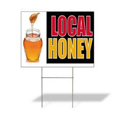 Weatherproof Yard Sign Local Honey Outdoor Advertising Printing A Lawn Garden