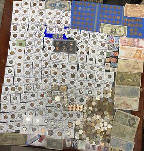 "Huge Lot 500+ Coin/Stamp/Medal~Silver Note/WL/Mercury/Buffalo/JFK/IKE/Indian/""V"""