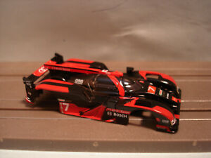 TOMY AFX H.O. SCALE SLOT CAR BODY ONLY AUDI R-18 #7 BLACK/RED NEW NICE DETAILS