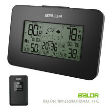Digital Weather Station Alarm Clock Humidity Temperature Backlight Snooze Meter