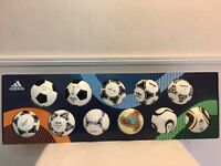 Adidas World Cup Historical Mini Ball Set Germany USA Spain R9 Maldini Jabulani