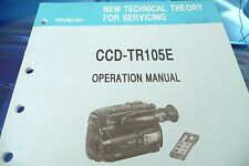 Operation Manual Sony CCD-TR105E Handycam Hi8 ,ORIGINAL