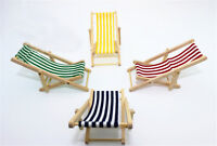 Sedia da spiaggia in legno pieghevole per lettino sdraio in scala 1:12 critTW