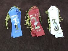 15 sets of 3 1st, 2nd, 3rd FIELD DAY red, white blue with card and string