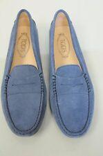 Neuf TOD'S Plats Mocassins Penny Conduite Chaussures Daim Bleu Marine 40