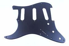 Lefty Matte Black Acrylic Strat Stratocaster 11 hole pickguard Fender SSS