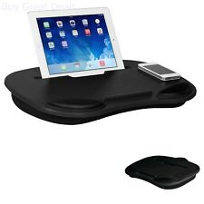 Portable Laptop Table Tray Notebook Tablet Computer Stand Media Lap Desk Black