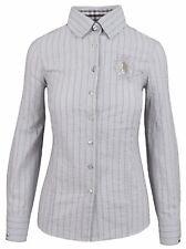 L' ARGENTINA Damen Bluse Women Shirt Größe 38 M Baumwolle & Elasthan Gestreift