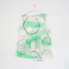 HOF115:COS Bluse seide muster ärmellos / Printed silk organza top 34 UK 8