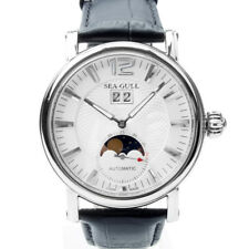 Seagull Grande Date Moon Phase Guilloche Automatic Men's Watch Sea-gull M308S US