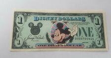 DISNEY DOLLARS, MICKEY MOUSE, $1 USA NOTE MINT uncirc.1989 , Ser. No. D00970094A