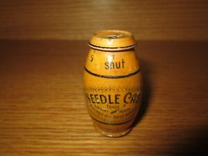 Antique Vintage Made in GERMANY Wood Egg Shaped NEEDLE CASE Pat. No. 2001