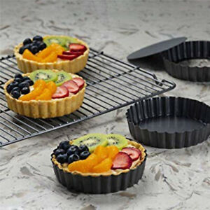 Non Stick 4 Inch Quiche Pans Removable Bottom Mini Tart Pans Set Tart tins Cases