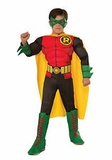 Kids Deluxe Muscle Chest Robin Costume Batman DC Comics Child Size Large 12-14