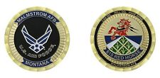 """MALMSTROM AIR FORCE BASE MONTANA 819 RED HORSE 1.75""""  CHALLENGE COIN"""