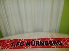"""1.FC Nürnberg Original Stoff Schal Anfang 90iger Jahre """"1.FC NÜRNBERG"""" TOP"""