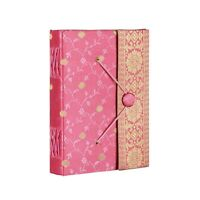 Sari Fabric Journal Notebook Diary 6 Colour 14cm x 18.5cm Unlined Recycled Paper