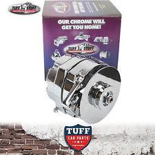 283 307 327 350 Chev V8 Tuff Stuff Alternator 100 Amp Chrome Plated Internal Reg