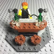 Lego New MOC City Modular Mini Figures Drinking Bar / Nightclub With Bartender