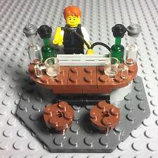 Lego New MOC City Modular Mini Figures Drinking Bar / Nightclub With Bartender