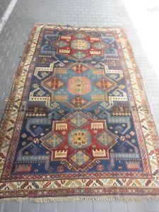 Rare Antique Caucasian Area Rug Carpet wool Hand Made 300x180-cm /118.1x70.8-inc